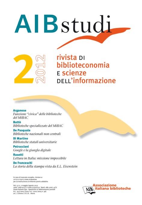 AIB studi, Vol 52, N° 2 (2012)