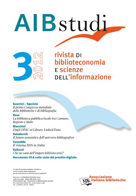 AIB studi, vol. 52, n. 3, 2012