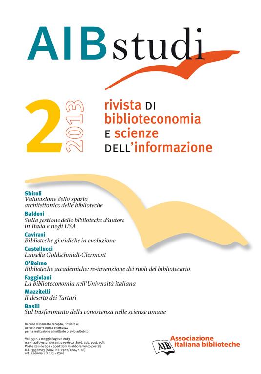 AIB studi, Vol 53, N° 2 (2013)