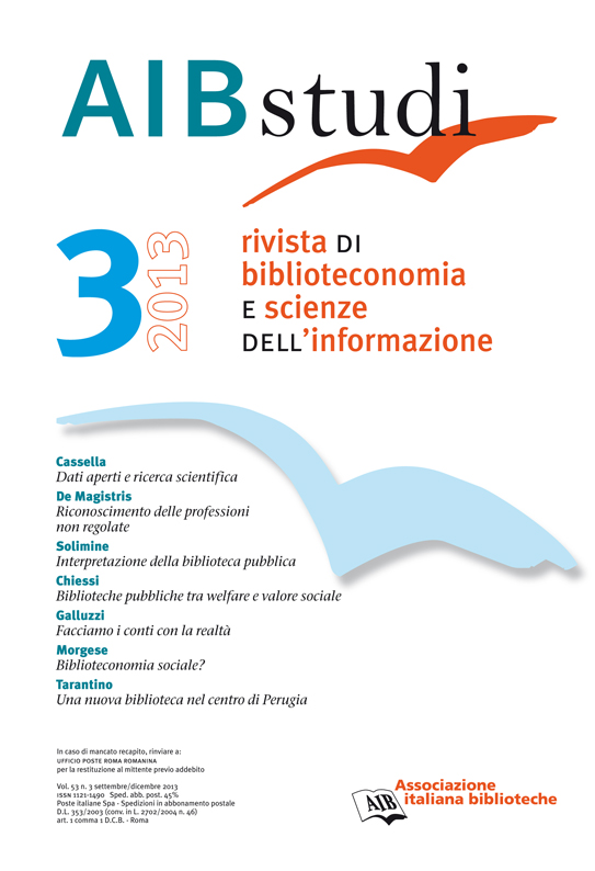AIB studi, Vol 53, N° 3 (2013)
