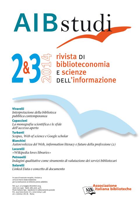 AIB studi, Vol 54, N° 2/3 (2014)